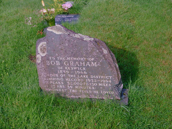 Bob Graham's grave at Stonethwaite. (Photo: Jonathan Steele)