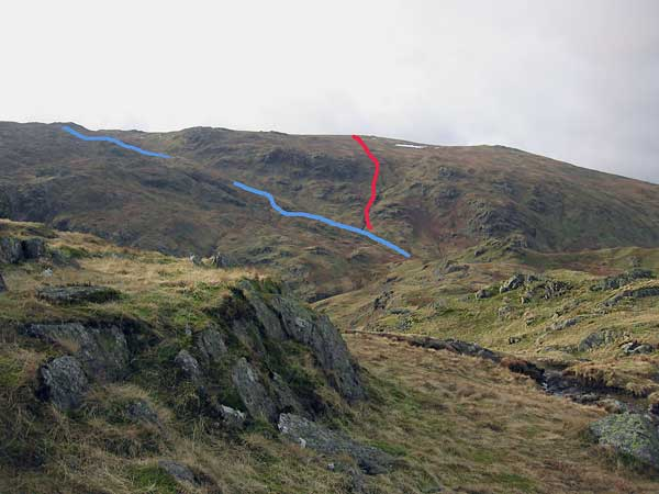The alternative ways from Calf Crag